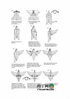 origami eagle 4 origami pinterest origami eagle and origami rh pinterest com origami eagle instructions origami eagle instructions