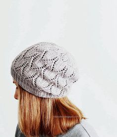 Greyhaven hat pattern by Robin Ulrich Studio (knitting, toque, beanie, lace)