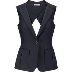Shop Nina Ricci Cutout Cotton-piquÉ Vest from stores. Vest Outfits For Women, Mode Outfits, Suits For Women, Casual Outfits, Clothes For Women, Clothes Sale, Chaleco Casual, Look Blazer, Blazer Jacket
