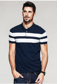 The term Polo shirt was originally used to describe the long sleeved, thick button down shirts used to play Polo. In the a tennis shirt embroidered with a polo player on it was the first of … Polo Shirt Style, Polo Shirt Outfits, Polo Shirt Design, Polo Outfit, Men's Outfits, Custom Polo Shirts, Mens Polo T Shirts, Tennis Shirts, Mens Designer Polo Shirts