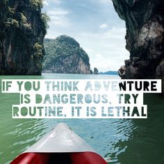 If you think adventure is dangerous, try routine, it is lethal. Paulo Coelho #quote