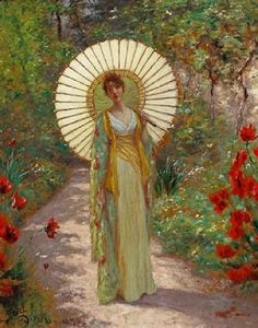 William John Hennessy (American artist, 1839-1917) The Japanese Parasol