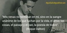 El 14 de mayo de 1935 #TalDíaComoHoy nació el poeta, novelista y periodista salvadoreño Roque Dalton, conocido como el poeta guerrillero. Se lo considera como una de las figuras esenciales de la Generación Comprometida, que surgió en El Salvador en los años 50 y promovió el interés por la historia de su país, así como un cambio en la estética de su literatura.
