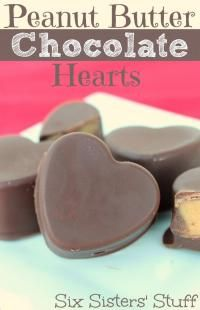 Six Sisters Peanut Butter Chocolate Hearts are so delicious! A great Valentine treat!
