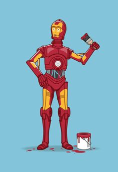Iron Droid  by See Mike Draw