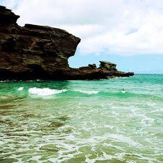 Papakōlea Beach (Green Sand Beach) in Ka Lae, HI