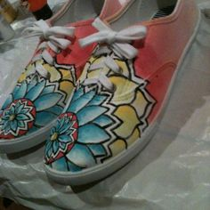 More painted shoes