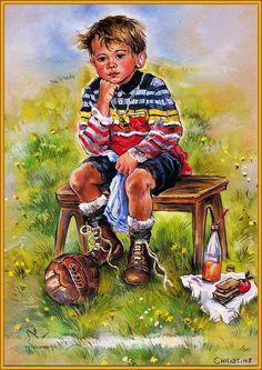Fussballspiel ~ Christine Haworth