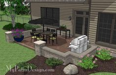 The DIY Rectangular Patio Design with Seat Walls will help you create a beautiful and colorful outdoor living area you and your family can enjoy every night.