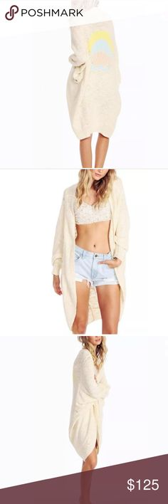 Sale! Wildfox NWT shell cocoon cardigan Soft and beautiful! Light cream cardigan w shells on back. Retails $220, get it here on sale! Or on m for only $94 Wildfox Sweaters Cardigans