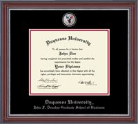 For my MBA degree - I love that Duquesne's business school is on my frame - Duquesne University Diploma Frame #DreamOffice @Church Hill Classics