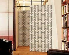 Wall STENCIL - MOD Pattern -Large, Reusable Modern Wall Stencil - Easy DIY Home Decor via Etsy