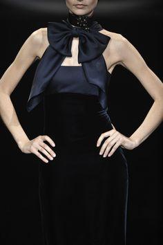 NOIR Black Beauty :: Black Bow Dress -  Armani Privé Fall 2009 Couture
