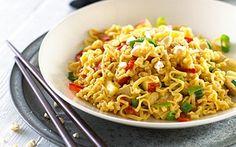 Spicy kylling med friske grøntsager