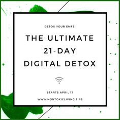 Join the ultimate 21-day digital detox! You won't be asked to give up your technology, just to draw healthy boundaries you won't mind making.  #emf  #digitaldetox #consciousliving #mindfulness