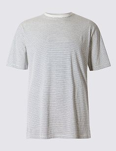 Big & Tall Pure Cotton Regular Fit T-Shirt with StayNEW™ | M&S