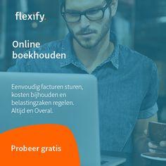 """Flexify is een online boekhoudpakket speciaal voor zelfstandigen en kleine bedrijven. Het werkt simpel en intuïtief, ook als je geen boekhouder bent. Flexify biedt alles wat je verwacht van een online boekhoudpakket en meer; al je verschillende belastingen managen, kilometers registeren en declareren en altijd gratis gebruik van een incassobureau geven ons product net dat … """"Flexify"""" verder lezen"""