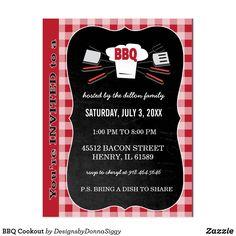 BBQ Cookout Postcard