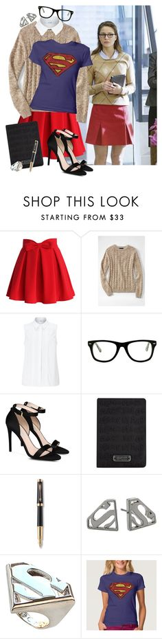 """Kara Danvers/Supergirl // Finnick Odair"" by fangirls-for-life ❤ liked on Polyvore featuring Chicwish, Lands' End, John Lewis, Muse, STELLA McCARTNEY, Marc Jacobs, Parker and Noir"