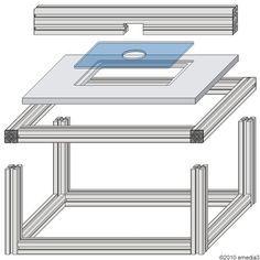 DIY-Bauanleitung für einen modularen Frästisch für Oberfräsen