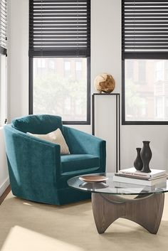 Ford's a modern swivel accent chair with a low seat, comfortable cushions and sloped arms. White Dining Room Chairs, Small Living Room Chairs, Compact Table And Chairs, Living Room Sets, Living Room Furniture, Modern Swivel Chair, Modern Chairs, Office Waiting Room Chairs, Office Chairs