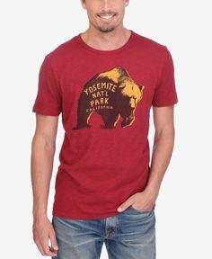ec5615827da0 Lucky Brand Men's Yosemite Bear Graphic-Print T-Shirt & Reviews - T-Shirts  - Men - Macy's