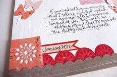 Love the stiched lines for the journalling as well as the embellie cluster