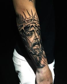 Chest Tattoo Quotes, Cool Chest Tattoos, Half Sleeve Tattoos Forearm, Best Sleeve Tattoos, P Tattoo, Forarm Tattoos, Lion Head Tattoos, Body Art Tattoos, Jesus Tattoo Sleeve