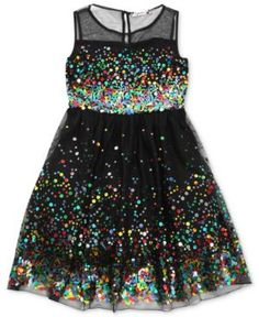 Speechless Girls Dress, Girls Sequin Illusion Dress by: Speechless @Macys (US)