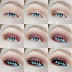 burlesque HOW TO via #dressedinmint #eyes #cateye #eyeliner #eyemakeup - bellashoot.com