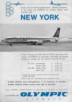 Olympic Airways Boeing B707-300, to New York