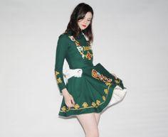 Vintage 1970s Irish Dance Costume  Irish Dance Dress  by aiseirigh