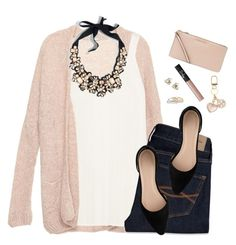 """Blush, cream & blac"