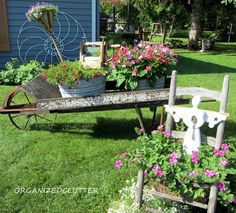 Organized Clutter: My Laundry Themed Old Chippy Wheelbarrow 2013