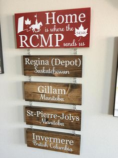 Horse & Rider Home Is Where the RCMP Sends Us Hanging Wooden Sign Wooden Diy, Wooden Signs, Home Bar Designs, Bottle Painting, Walnut Stain, Craft Projects, Wood Projects, Wood Glass, Wood Wall Art