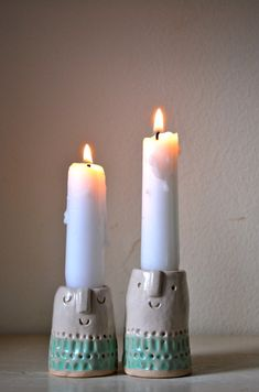 Stunning Ceramic Candle Holder Design Ideas You Will Love - Ceramic Candle Holders, Candlestick Holders, Candlesticks, Candlestick Chart, Candleholders, Diy Clay, Clay Crafts, Diy Candles, Pillar Candles