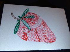 Strawberry zentangle