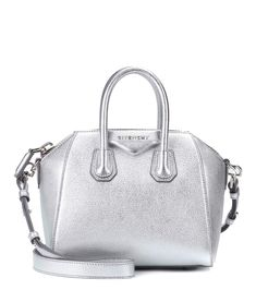 6bd4f58a9459 GIVENCHY Antigona Mini leather shoulder bag.  givenchy  bags  shoulder bags   hand bags  lining  leather  metallic