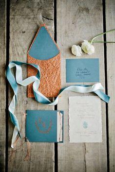 Photo: Kristyn Hogan via Elizabeth Anne Designs; Color Inspiration: Trending Copper Wedding Ideas in 2015 - wedding invitation idea