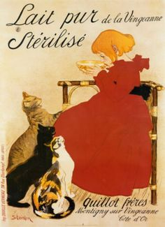 vintage french poster - lait pur