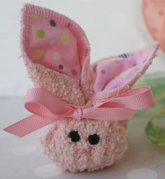 Pink BOO BOO BUNNY with reusable ice cube by PinkTreeBoutique