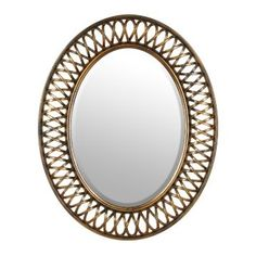 Bronze Woven Oval Mirror, 24x30 | Kirklands