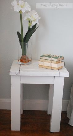 DIY end tables! along with this website http://ana-white.com/2010/01/plan-hyde-side-table.html