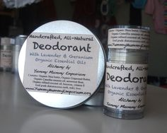 Handcrafted, All-Natural, Baking Soda Free Deodorant - Lavender and Geranium - Yummy Mummy Emporium