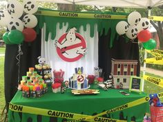 Sebastians Ghostbusters 4th birthday party | CatchMyParty.com