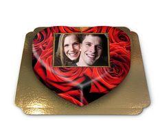 Fototorte in Herzform, eine wunderschöne Geschenkidee für die/den Liebste/n #Torte #Fototorte #Geschenk #Valentinstag