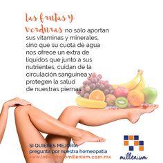 Un motivo para comer más frutas y verduras: evitar varices y celulitis en las piernas.