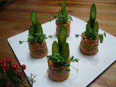 2009年のおせち料理の一品です☆アスパラガスを門松に見立てました(*^_^*)カボチャサラダと生ハムの相性も最高です♡