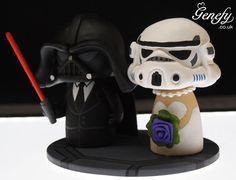Starwars wedding cake topper