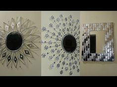 3 increibles espejos - 3 amazing mirrors - YouTube Cd Crafts, Recycled Crafts, Creative Crafts, Diy And Crafts, Chanel Room, Diy Popsicle Stick Crafts, Grandma Crafts, Wal Art, Dollar Tree Decor